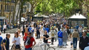 Las Ramblas is one of Barcelona's main tourist attractions