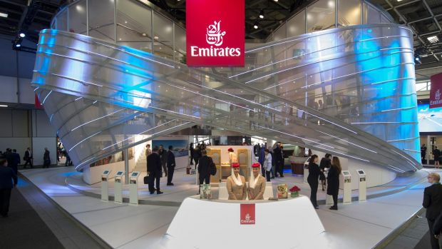"Der ITB-Emirates-Stand hat das Motto ""Emirates Infinite Possibilities""."