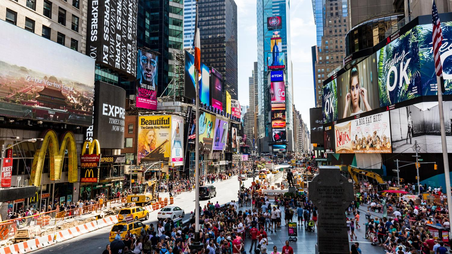 Times Square is a top New York attraction.