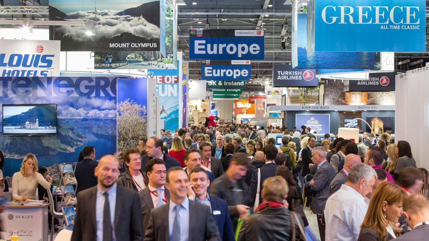 Volle Hallen beim World Travel Market in London im vergangenen Jahr.