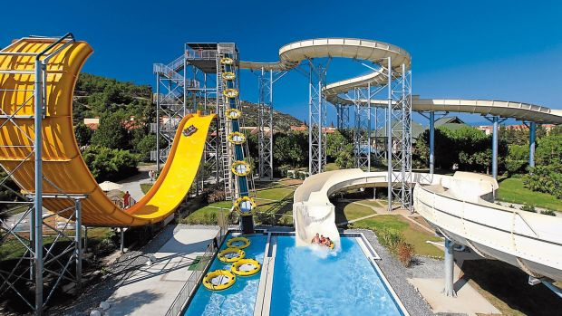 All-inclusive hotels such as the Aqua Fantasy Aquapark Hotel are attracting German families back to Turkey.