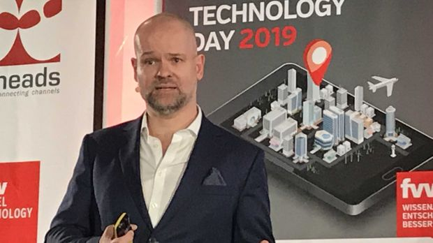 Amadeus-Manager Stefan Ropers auf dem Travel Technology Day