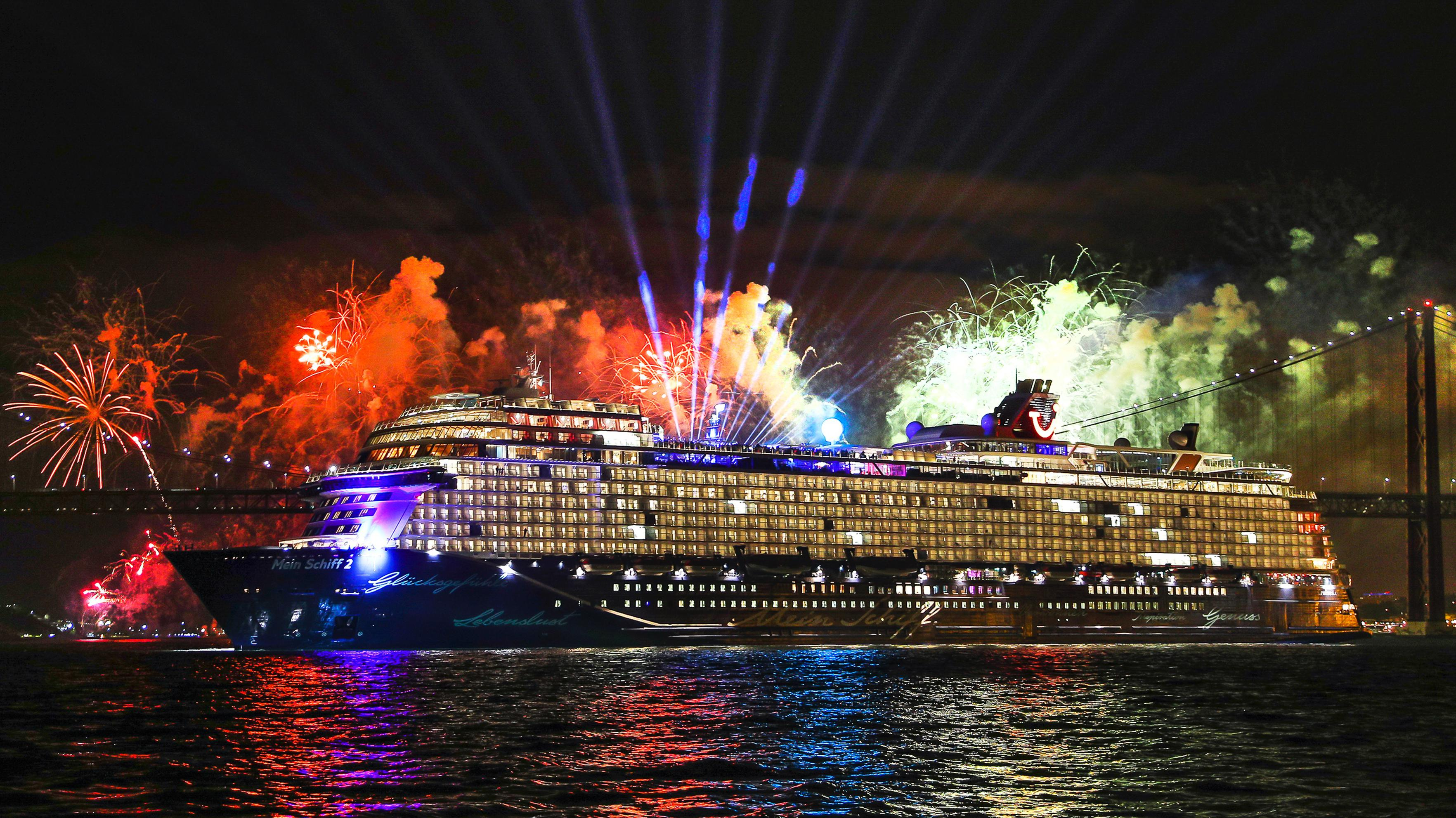 A spectacular christening for TUI Cruises' new Mein Schiff 2 which goes into service this year