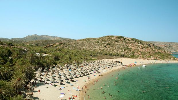 Crete (here Vai beach) and other Greek destinations hope for more German tourists this summer.