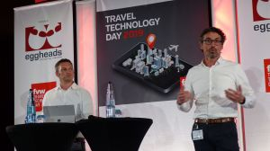 Michael Freitag Michael Becher Bewotec auf dem fvw Travel Technology Day 2019