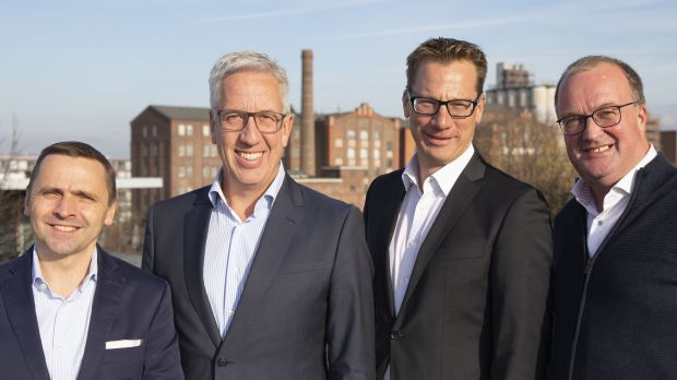 Closer cooperation between (from left) RTK chief Thomas Bösl, Schauinsland owner Gerald Kassner, Lars Helmreich (RTK), and Detlef Schroer, Schauinsland sales director.