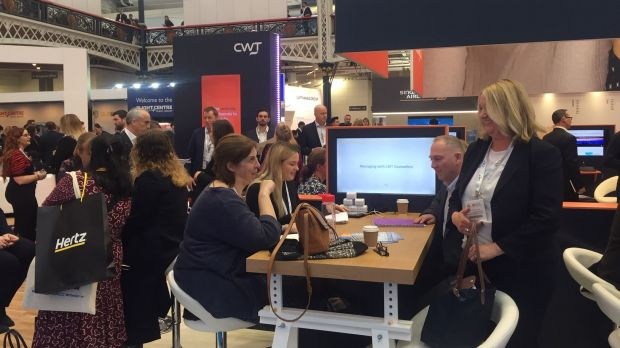 Hochbetrieb bei der Business Travel Show 2019 in London.
