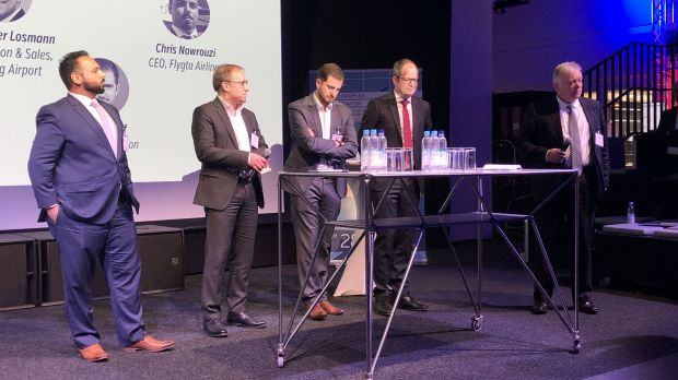Diskussionrunde auf dem European Aviation Symposium