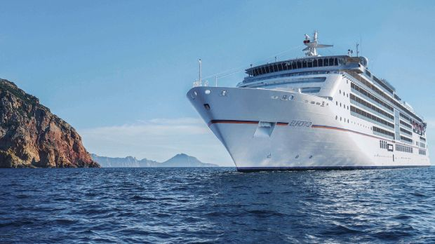 The Europa 2 is one of Hapag-Lloyd Cruises' two five-star-plus luxury cruise liners.