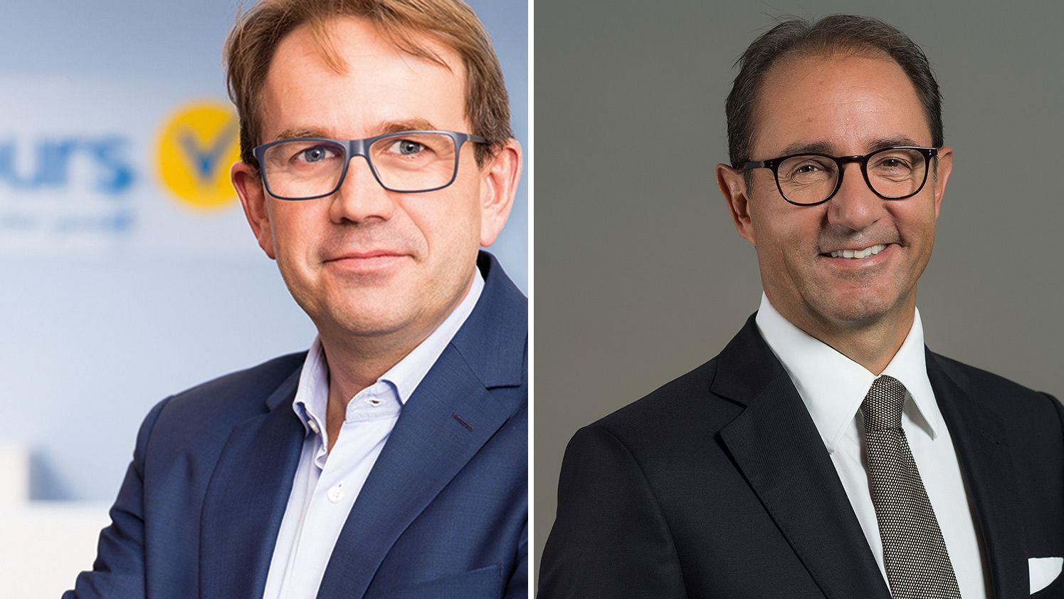 Vtours-Chef Achim Schneider und Hotelplan-Group-CEO Thomas Stirnimann
