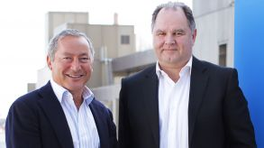 Dietmar Gunz (right) with Samih Sawiris