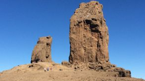 Lonely landmark: Roque Nublo, one of the top attractions on the island of Gran Canaria, will see less German tourists this year due to a new travel warning.