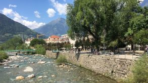 No overtourism: Italian cities such as Meran experience a slow summer season in Corona times.