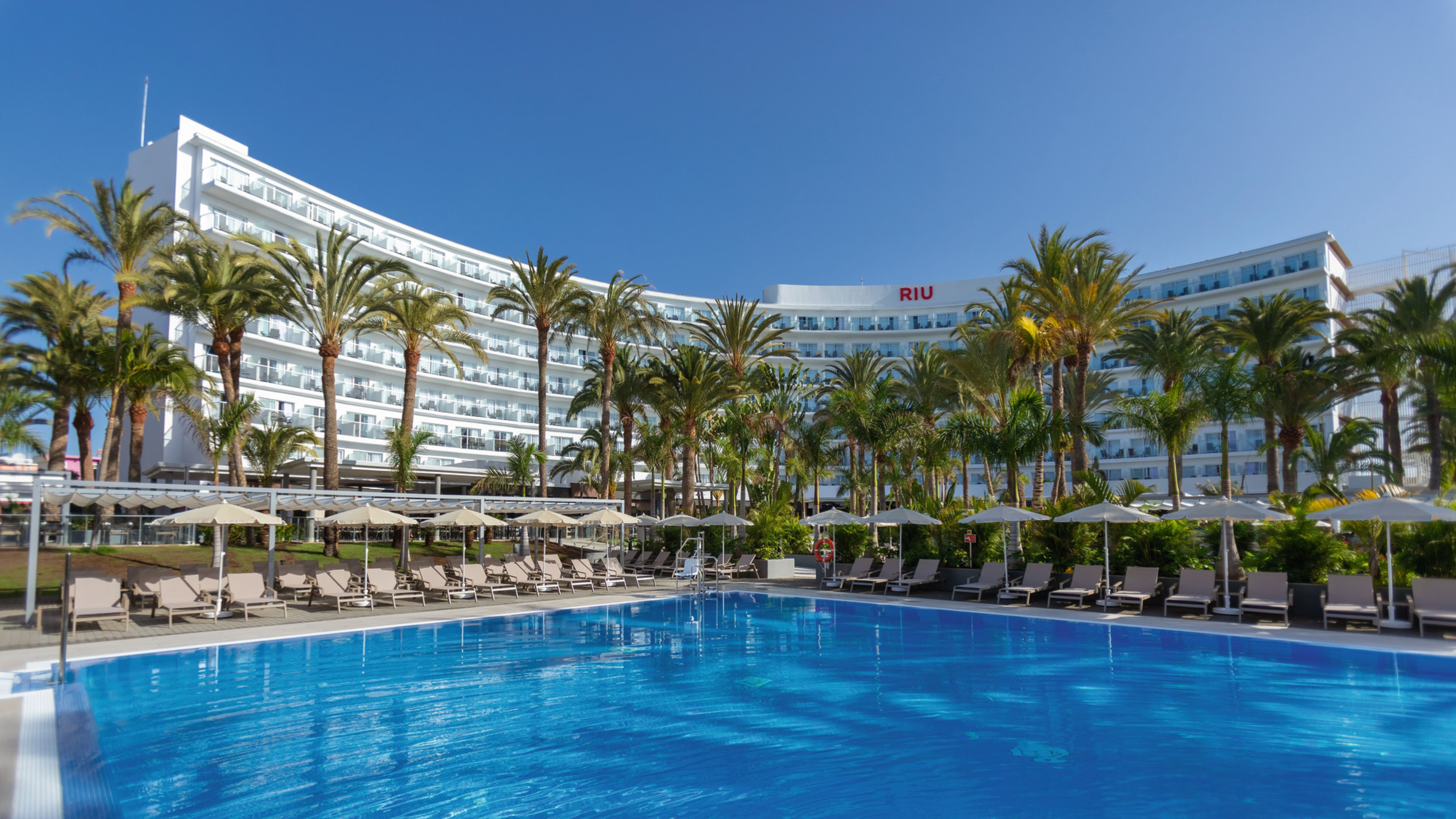 Ready for a comeback: Riu Hotel Palmeras on the island of Gran Canaria.