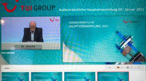 Heading the virtual extraordinary general meeting: Dieter Zetsche, chairman of the supervisory board of TUI AG.