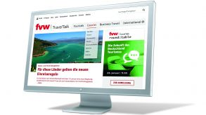 Die Website von fvw | TravelTalk gliedert sich nun neu in die vier Bereiche Touristik, Counter, Business Travel und International.