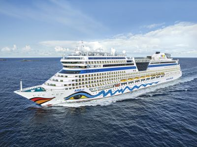 On target for a restart: Aida Sol resumes cruises from Kiel this weekend.
