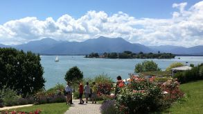 Picture-perfect setting: Bavaria – the photo shows Lake Chiemsee – significantly increased its market share among Gerrman tourists.
