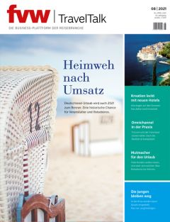 Cover fvw | TravelTalk 8/21 hochkant für den Teaser Homepage